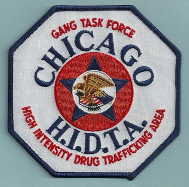 DEA Chicago HIDTA Gang Task Force Enforcement Police Patch