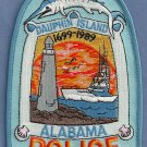 Dauphin Island Alabama Police Patch Lighthouse