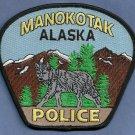 Manocotak Alaska Police Patch Wolf!