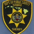 Hawaii State Department of Public Safety Sheriff Police Patch