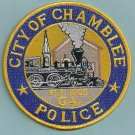 Chamblee Georgia Police Patch Locomotive