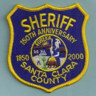 Santa Clara County Sheriff California 150th Anniversary Police Patch