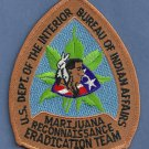 Bureau of Indian Affairs Marijuana Eradication Police Patch