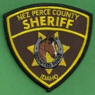Nez Perce County Sheriff Idaho Mounted Posse Police Patch