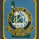 Coeur D'Alene Idaho Police Patch