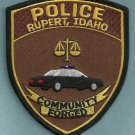 Rupert Idaho Police Patch