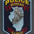 Bureau Illinois Police Patch Locomotive