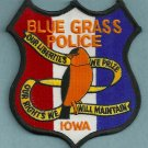 Blue Grass Iowa Police Patch
