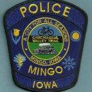 Mingo Iowa Police Patch Locomotive