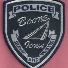 Boone Iowa Police Patch