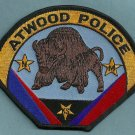 Atwood Kansas Police Patch Buffalo