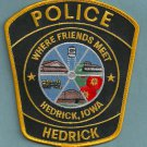 Hedrick Iowa Police Patch