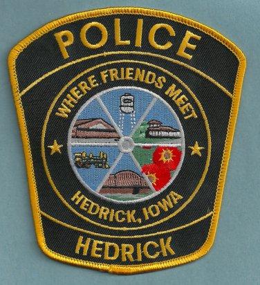 Hedrick Iowa Police Patch