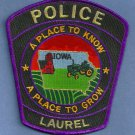 Laurel Iowa Police Patch
