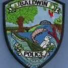 Baldwin Louisiana Police Patch Alligator