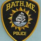 Bath Maine Police Patch