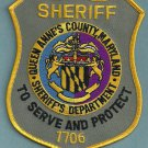 Queens Annes County Sheriff Maryland Police Patch