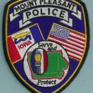 Mount Pleasant Iowa Police Patch
