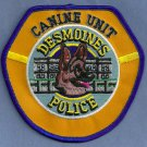 Des Moines Iowa Police K-9 Unit Patch