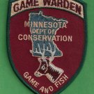 Minnesota Conservation Game Warden Police Patch