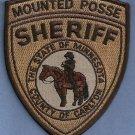 Carlton County Sheriff Minnesota Mounted Posse Police Patch