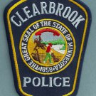 Clearbrook Minnesota Police Patch