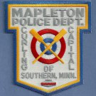 Mapleton Minnesota Police Patch Curling Capital