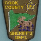 Cook County Sheriff Minnesota Police Patch