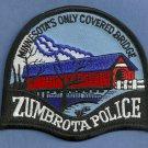 Zumbrota Minnesota Police Patch Covered Bridge