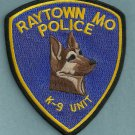 Raytown Missouri Police K-9 Unit Patch