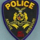 Archie Missouri Police Patch