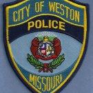 Weston Missouri Police Patch Locomotive