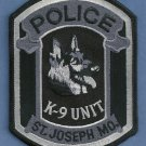 St. Joseph Missouri Police Tactical K-9 Unit Patch