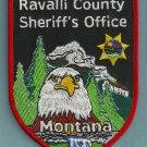 Ravalli County Sheriff Montana Police Patch