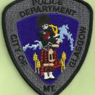 Glasgow Montana Police Patch Bagpiper