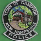 Campton New Hampshire Police Patch Covered Bridge