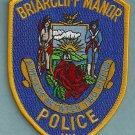 Briarcliff Manor New York Police Patch