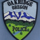 Oakridge Oregon Police Patch