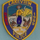 Lakeview Oregon Police Patch