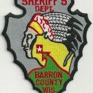 Barron County Sheriff Wisconsin Police Patch