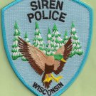 Siren Wisconsin Police Patch