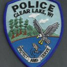 Clear Lake Wisconsin Police Patch