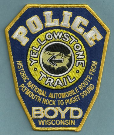 Boyd Wisconsin Police Patch