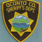 Oconto County Sheriff Wisconsin Police Patch