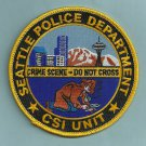 Seattle Washington Police CSI Crime Scene Investigator Patch