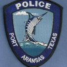 Port Aransas Texas Police Patch Marlin
