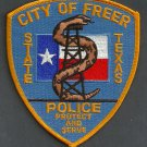 Freer Texas Police Patch Snake