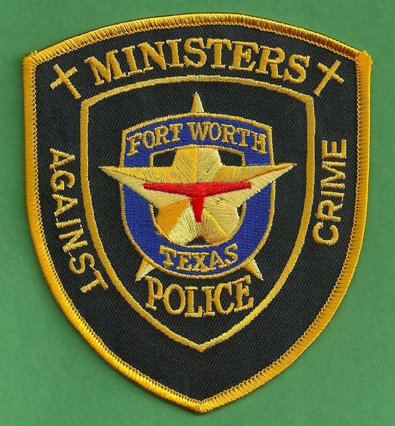 Fort worth texas police ministers against crime patch for Fish store fort worth