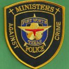 Fort Worth Texas Police Ministers Against Crime Patch