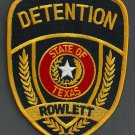 Rowlett Texas Police Detention Patch